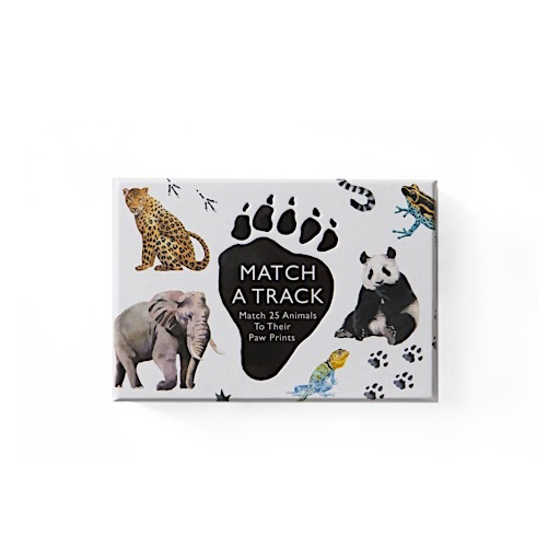 Chronicle Match a Track: Match 25 Animals to Their Paw Prints
