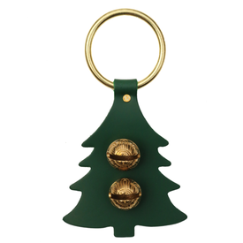 New England Bells Brass Door Chime Bell - Tree - Green