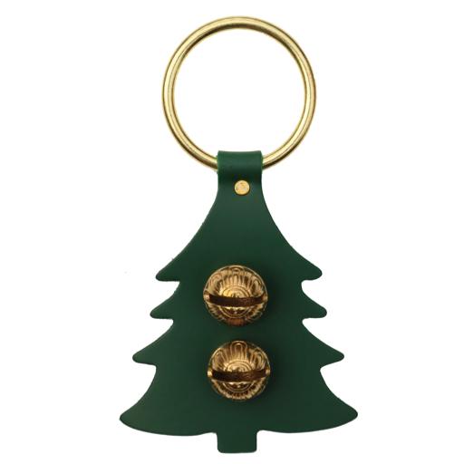 Brass Door Chime Bell - Tree - Green