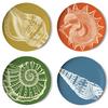 Thomas Paul Sea Life Coaster Dishes - Set of 4