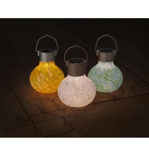 Solar Tea Lantern - White
