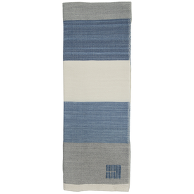 Swans Island Swans Island Merino Coastal Throw Blanket - White, Grey & Marine