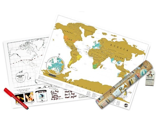 Luckies Scratch Map Travel Edition - Mini World Map