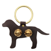 Brass Door Chime Bell - Labrador - Dark Brown