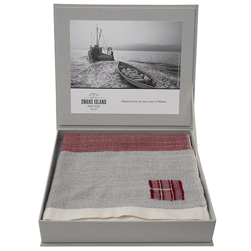 Swans Island Merino Coastal Throw Blanket - Winterberry
