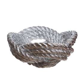Areaware Rope Knot Bowl by Harry Allen - Silver Chrome