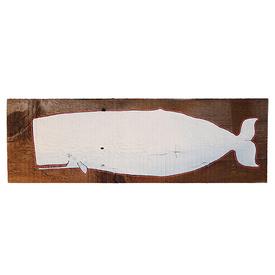 Mermaid Meadows Mermaid Meadow Barnboard Whale - White
