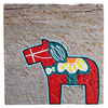 Mermaid Meadow Barnboard Dala Horse - 4x4