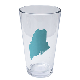Vital Industries Maine State Pint Glass - Turquoise