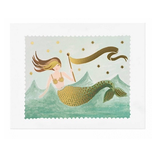 Rifle Paper Co. Print - Mermaid 8 x 10