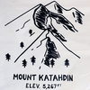 Hills & Trails Screen Print Banner - Mount Katahdin