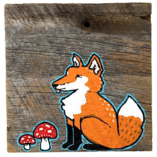 Mermaid Meadow Barn Board Fox - 4x4