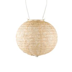 Allsop Home & Garden Soji Stella – Globe – 8″ Tyvek Solar Lantern - Pearl