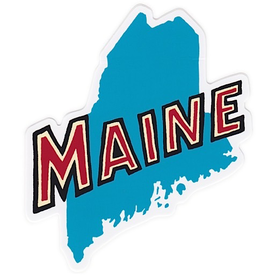 The Sticker Guy Retro Maine State Sticker