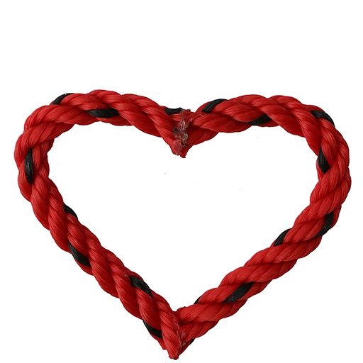 Cape Porpoise Trading Co. Recycled Rope Heart Ornament - Red