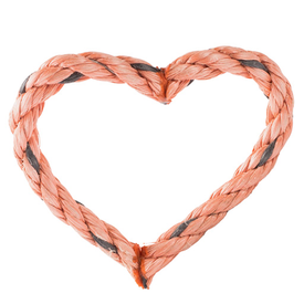 Cape Porpoise Trading Co. Cape Porpoise Trading Co. Recycled Rope Heart Ornament - Pink
