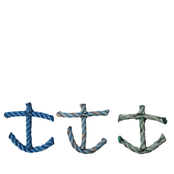 Cape Porpoise Trading Co. Cape Porpoise Trading Co. Recycled Rope Ornament - Anchor - Asst. Ocean