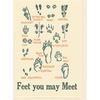 Saturn Press Feet You May Meet Card