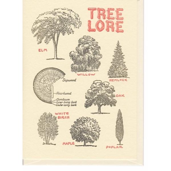 Saturn Press Saturn Press Tree Lore Card