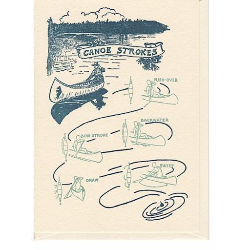 Saturn Press Saturn Press Canoe Strokes Card