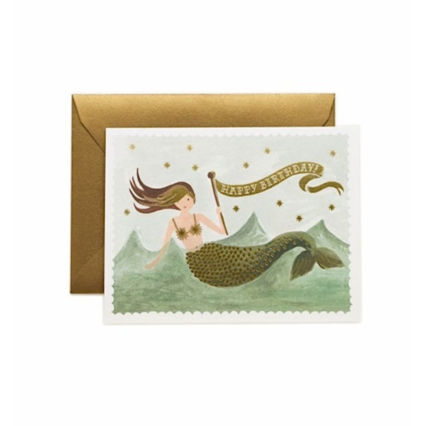Rifle Paper Rifle Paper Co. Card - Mermaid Birthday