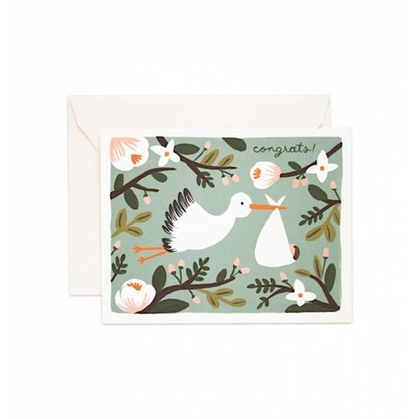 Rifle Paper Rifle Paper Co. Card - Congrats Stork