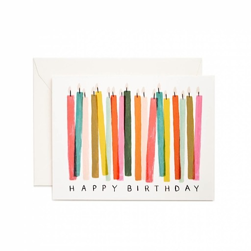 Rifle Paper Co. Card - Happy Birthday Candles