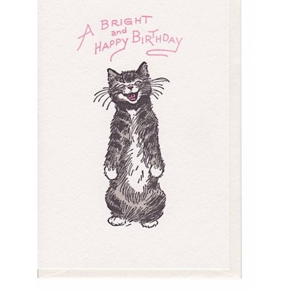 Saturn Press Saturn Press Cat Smile Card