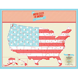 Luckies Scratch Map - US Edition