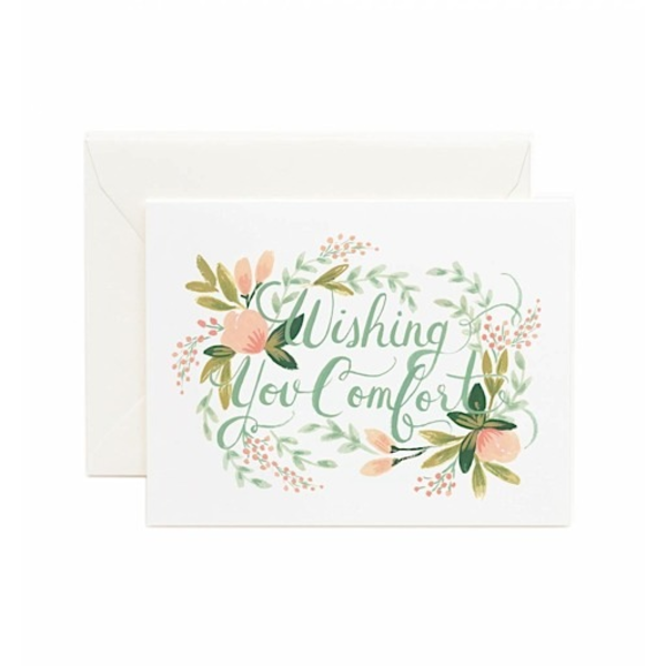Rifle Paper Rifle Paper Co. Card - Wishing You Comfort