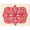 Morris & Essex I Love You Card