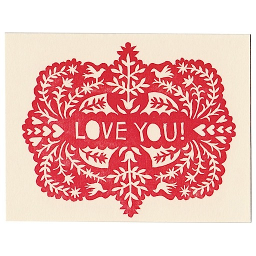 Morris & Essex I Love You Card