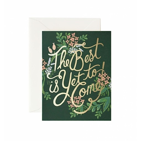 Rifle Paper Rifle Paper Co. Card - The Best Is Yet to Come