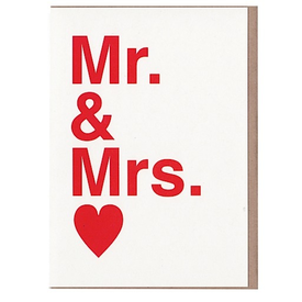 Sad Shop Sad Shop - Mr. & Mrs. Card