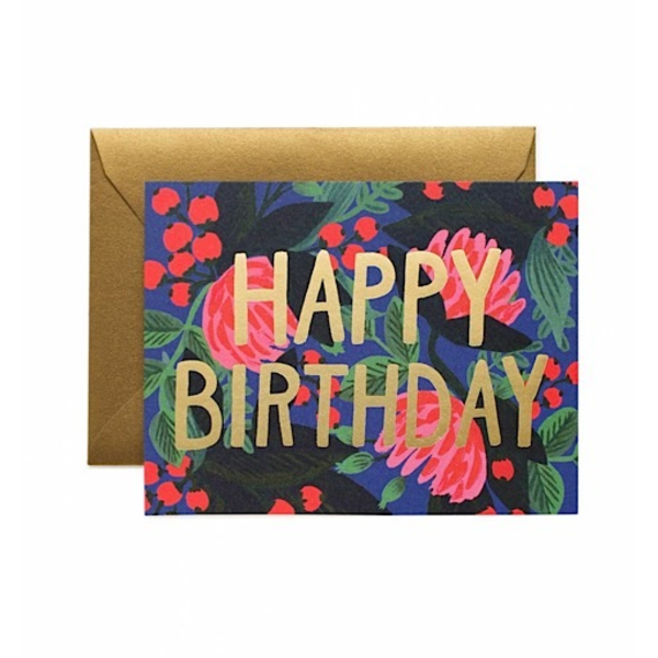 Rifle Paper Rifle Paper Co. Card - Floral Foil Birthday
