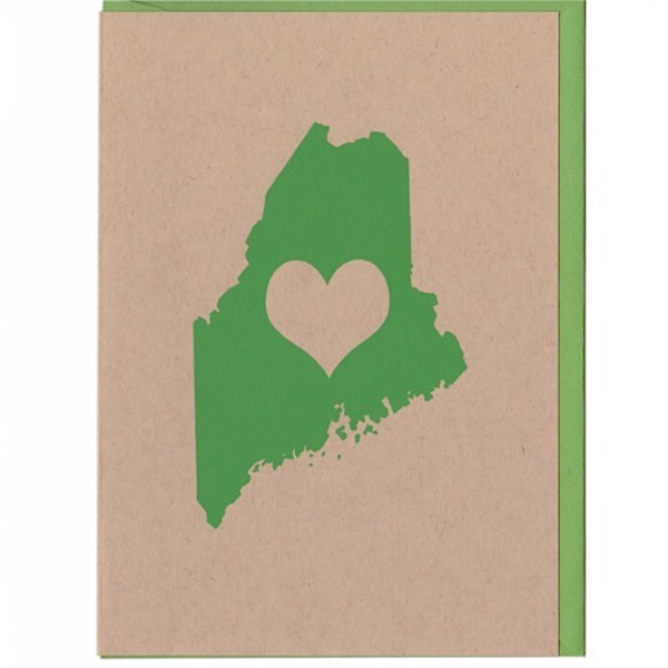 ThinkGreene ThinkGreene Maine Love Card - Green