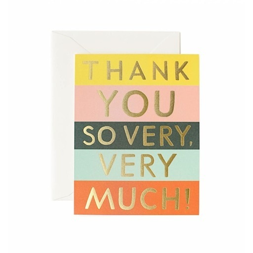Rifle Paper Co. Rifle Paper Co. Card - Thank You Color Block