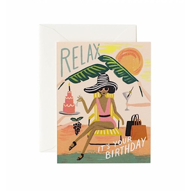 Rifle Paper Rifle Paper Co. Card - Relax Birthday
