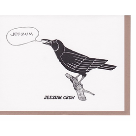 N'East Paper N'East Paper Card - Jeezum Crow