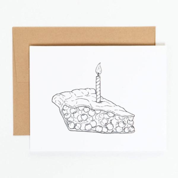 N'East Paper N'East Paper Card - Birthday Pie