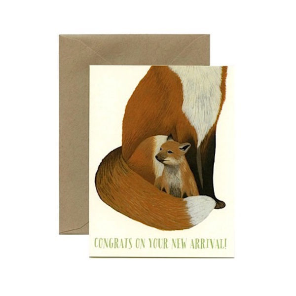 Yeppie Paper Yeppie Paper Fox New Arrival Card