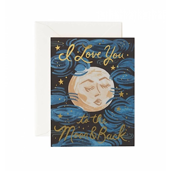 Rifle Paper Rifle Paper Co. Card - To The Moon and Back