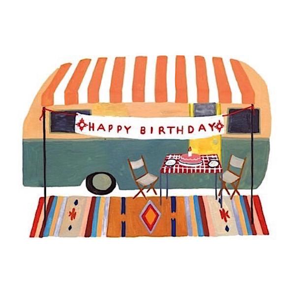 Small Adventures Small Adventure - Camper Trailer Birthday Card