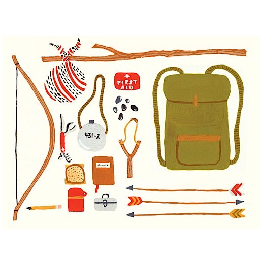 Small Adventure - Backpacking Card