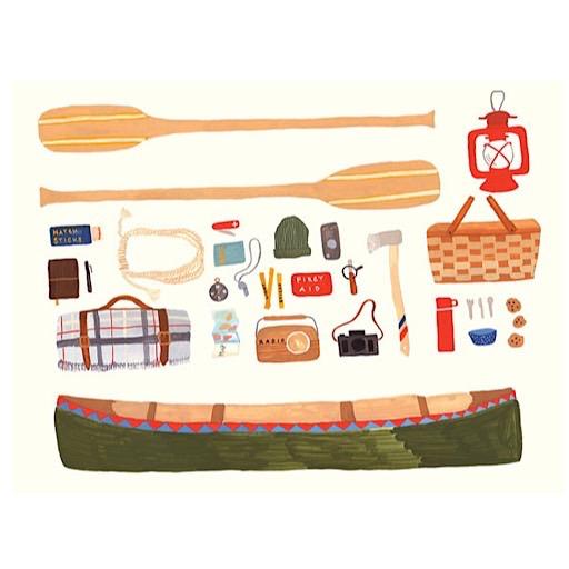 Small Adventure Small Adventure - Canoeing Card