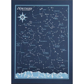 We Are Brainstorm Northern Hemisphere Star Chart Print - 8x10