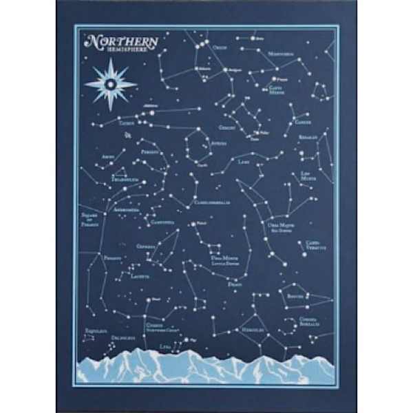 We Are Brainstorm Northern Hemisphere Star Chart Print - 8x10