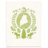 Morris & Essex Maine State Card