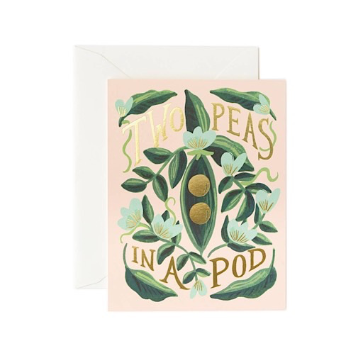 Rifle Paper Co. Card - Two Peas in a Pod