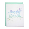 Parrott Design Card - Holographic Birthday
